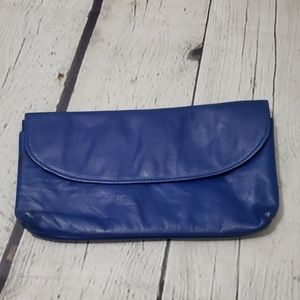 Vintage Woodward Bright Blue Made in Italy Wallet